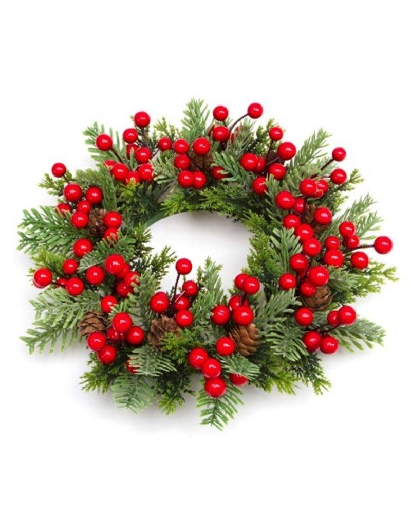 Christmas Candle Wreaths
