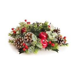 Darice Christmas Candle Ring for 3in Pillar Mini Wreath Mixed