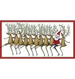 Caspari Christmas Money Cards Pack of 4 Santas Kickettes