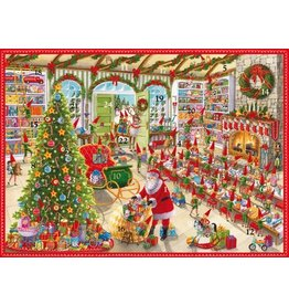 Caspari Advent Calendar Card ADV256C Santas Studio