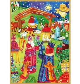 Caspari Advent Calendar Card Nativity Advent