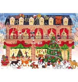 Caspari Advent Calendar Card Christmas Shopping