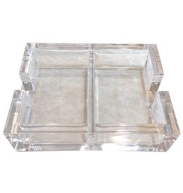 Caspari Acrylic Playing Cards Holder For 2 Decks of Playing Cards