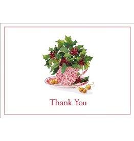 Caspari Thank You Note Cards Christmas 85627.48 Christmas Tea Set of 8