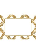 Caspari Table Place Cards 10pk Acanthus Trellis Ivory Gold