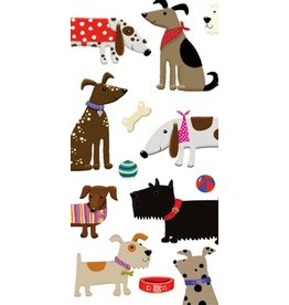 Caspari Paper Facial Tissues Woof Dogs and Toys Hankies