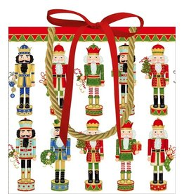 Caspari Chirstmas Gift Bag Nutcracker Parade Gift Bag Sm