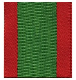 Caspari Ribbon R802 Moire Red Green Ribbon 6 yds