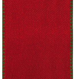 Caspari Ribbon | Caspari R816 Red and Green Reversible Ribbon 8yds