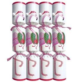 Caspari Christmas Crackers 10 inch Set of 8 - Christmas Flamingo
