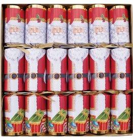 Caspari Christmas Crackers CK022.12 Set of 6 Santa 12.5in Crackers
