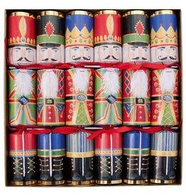 Caspari Christmas Crackers CK021.12 Set of 6 Nutcrackers 12.5 inch