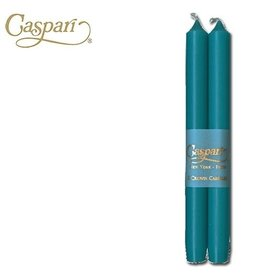 Caspari Candle Tapers Crown 10 inch 2pk CA40.2 Turquoise