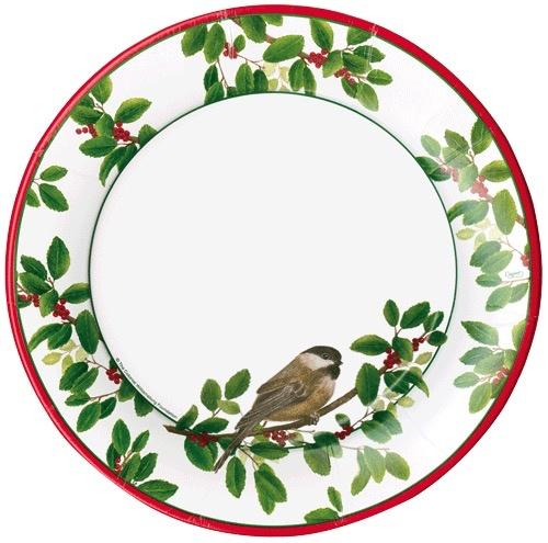 Caspari Christmas Paper Dinner Plates RD 8pk Winter Songbirds  sc 1 st  Digs N Gifts & Caspari Christmas Paper Dinner Plates RD 8pk Winter Songbirds - Digs ...
