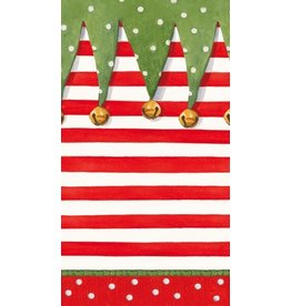 Caspari Christmas Paper Guest Towel Napkins 15pk Stocking Stipes