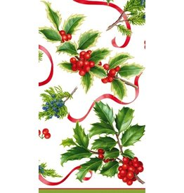 Caspari Christmas Paper Guest Towel Napkins 15pk Xmas Trimmings