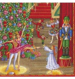 Caspari Christmas Paper Dinner Napkins 20pk Christmas Ballet