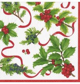 Caspari Christmas Paper Dinner Napkins 20pk Xmas Trimmings