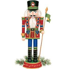 Caspari Christmas Gift Tags 4pk Nutcracker Ornament