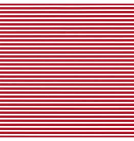 Caspari Christmas Wrapping Paper Roll 8ft Red Stripe
