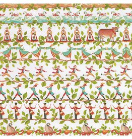 Caspari Christmas Gift Wrapping Paper 8ft Roll 12 Days of Christmas