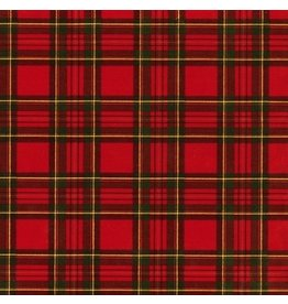 Caspari Christmas Gift Wrapping Paper Roll 8ft Royal Plaid Foil