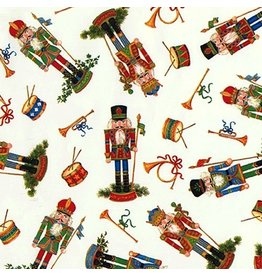 Caspari Christmas Gift Wrapping Paper Roll 8ft Nutcrackers