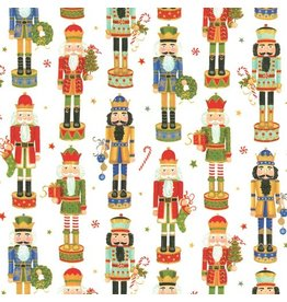Caspari Christmas Gift Wrapping Paper Roll 8ft Nutcracker Parade