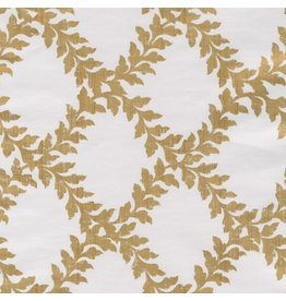 Caspari Christmas Gift Wrapping Paper Roll 8ft Acanthus Trellis Ivory