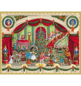 Caspari Boxed Christmas Cards 16pk Christmas Ballet