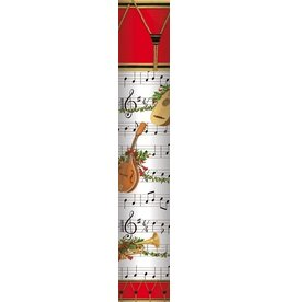 Caspari Christmas Fireplace Matches in Round Gift Box Music Concert