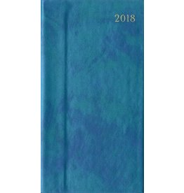 Caspari Pocket Diary 2018 Iridescent Blue Slim Diary