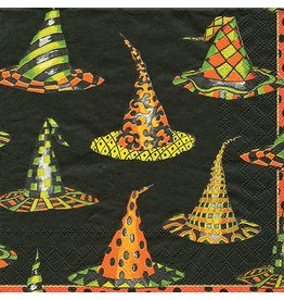Caspari Halloween Party Cocktail Napkins 20pk Witches Hats