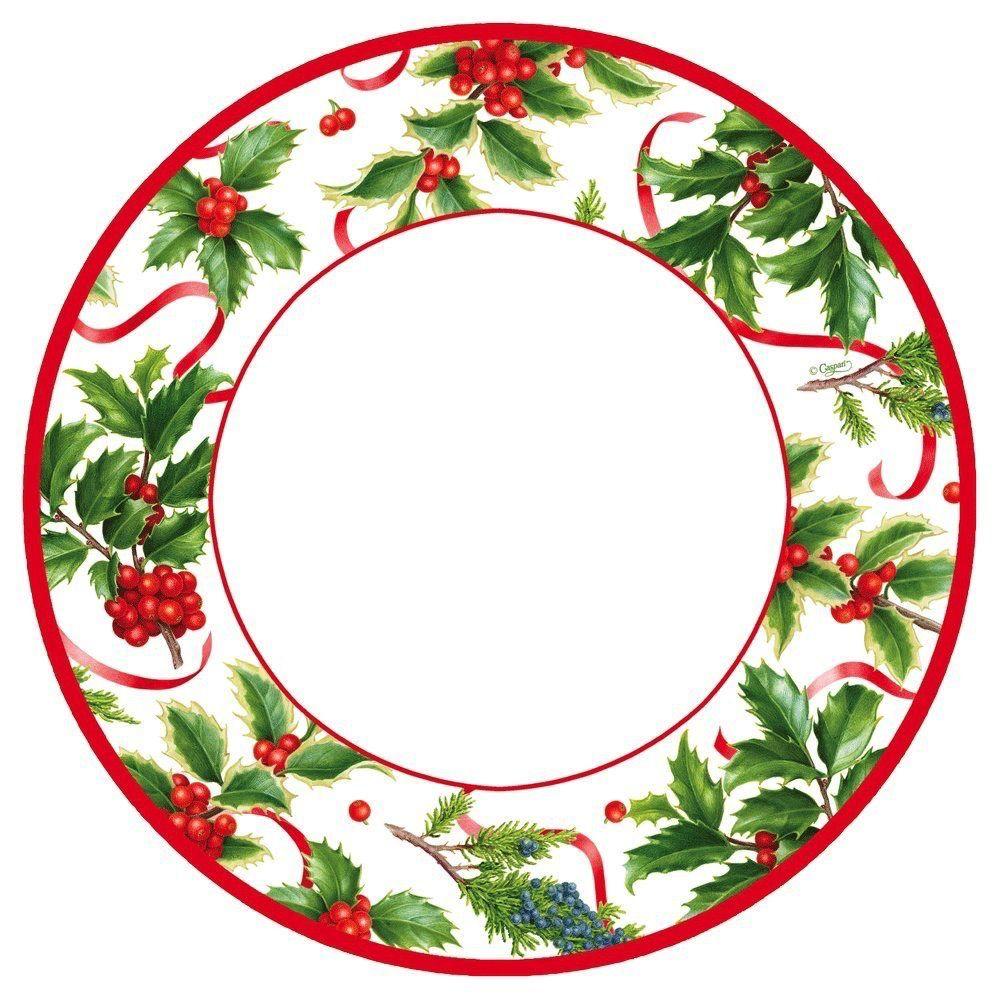caspari christmas paper dinner plates rd 8pk christmas trimmings
