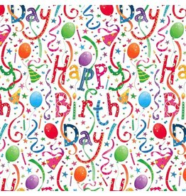 Caspari Birthday Gift Wrapping Paper Wrap Roll 2 Sheets Happy Birthday