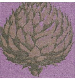 Caspari Paper Linen Cocktail Napkins 15pk Artichoke Lavender