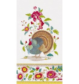 Caspari Fall Thanksgiving Paper Guest Napkins 15pk Turkey Setting