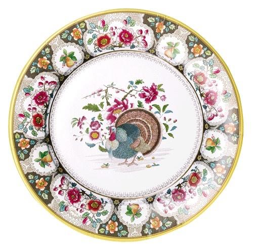 Caspari Fall Thanksgiving Paper Dinner Plates 8pk Turkey Setting  sc 1 st  Digs N Gifts & Caspari Fall Thanksgiving Paper Dinner Plates 8pk Turkey Setting ...