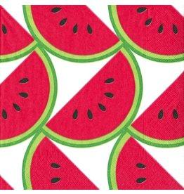 Caspari Paper Cocktail Napkins 20pk Watermelon Slice