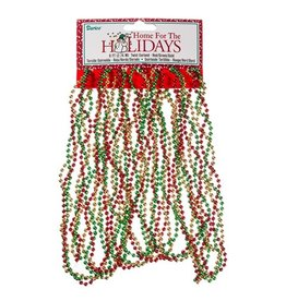 Darice Red Gold Green Twisted Bead Mini Christmas Garland 9FT