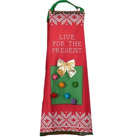 Twos Company Light Up Christmas Apron w Live for the Present