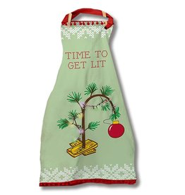 Twos Company Light Up Christmas Apron w Time To Get Lit