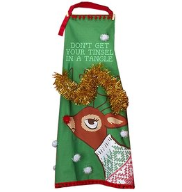 Twos Company Light Up Christmas Apron Dont Get Your Tinsel In A Tangle