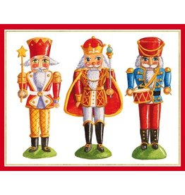 Caspari Boxed Christmas Cards Set of 16 Nutcdrackers