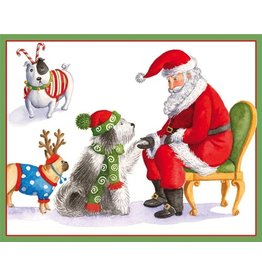 Caspari Boxed Christmas Cards Set of 16 Dogs Wating for Santa