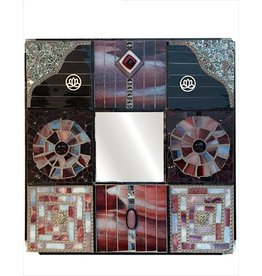 Glistening Glass Mosaics Wall Mirror Tessuto Di Virti 10.25 Sq