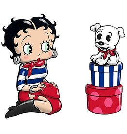 Kurt Adler Betty Boop and Pudgy Salt and Pepper Shakers Set