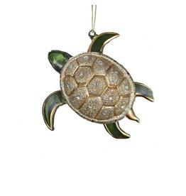 Kurt Adler Glittered Glass Sea Turtle Christmas Ornament