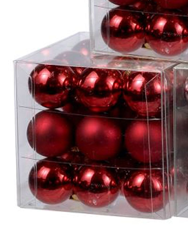 kurt adler christmas ornaments mini glass balls 25mm set of 27 red