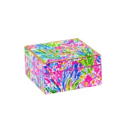 Lilly Pulitzer® Small Lacquer Box Fan Sea Pants 4x4x2 | Lilly Pulitzer